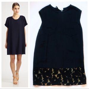 Phillip Lim Silk w/Lace Floral Trim T-Shirt Dress